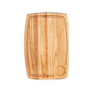 Ξύλινο πιάτο καστανιάς 32×22 με λούκι & ντιπ ΚΑΣ-020192 Rozos
