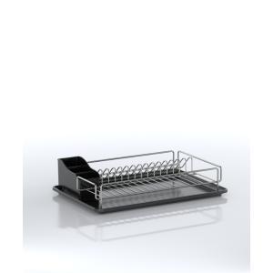 Ανοξείδωτη Πιατοθήκη 18/10 Με Πλαστικό Δίσκο 33x48x12cm Tekno tel KB006SS