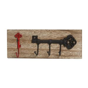 Κρεμάστρα κλειδί κόκκινο/μαύρο 40χ6,5x15εk. Espiel KLI108K4