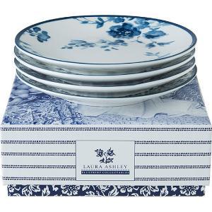 Πιατάκι Petit Four 4τμχ σε κουτί δώρου Floris και China Fleur Blueprint Laura Ashley LA178667