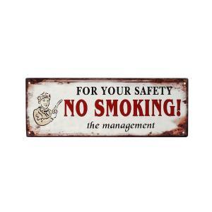 """Ταμπέλα """"No smoking"""" Μεταλλική 36x13εκ. espiel LOG222"""
