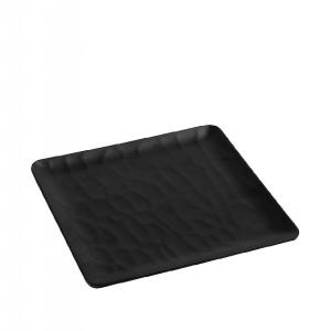 Πιάτο Τετράγωνο Μελαμίνης 22x22cm Wavy Matte Black Espiel MLB348K48-6