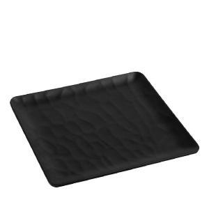 Πιάτο Ρηχό από Μελαμίνη 26x26cm Wavy Matte Black Espiel MLB349K36-6
