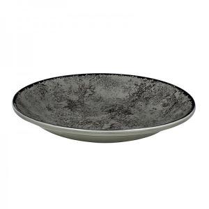 Πιάτο Βαθύ Στρογγυλό 23cm Πορσελάνης Γκρι Oriana Ferelli PR18274602