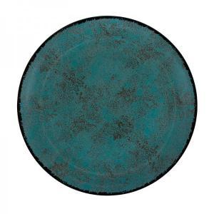 Πιάτο Ρηχό Στρογγυλό 27cm Πορσελάνης Τιρκουάζ Oriana Ferelli PR18274801