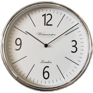 Ρολόι Τοίχου 30cm Ασημί Πλαστικό 7272-Β Oriana Ferelli QN00072722