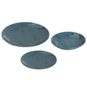 Σετ πιάτα 18 τμχ Tiρκουάζ 6X26,5 - 6X19 - 6X21cm Espiel SET201