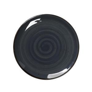 Πιάτο Ρηχό Terra Σκούρο Γκρι Στρογγυλό 24.5cm Espiel TLG102K6