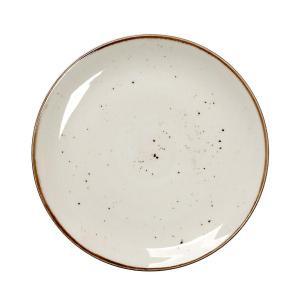 Πιάτο Ρηχό Κρεμ Στρογγυλό 24.5cm Terra EspielTLK102K6