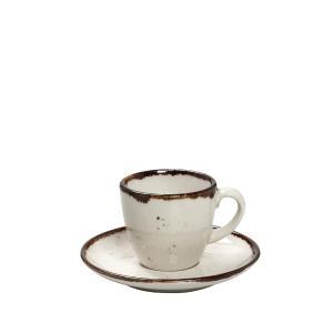 Φλιτζάνι & Πιατάκι Εσπρέσσο 90ML ''Terra Cream '' 12x6εκ. Espiel TLK112K6