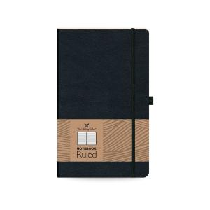 TWF Leather Notebook Ριγέ 17x24 Μαύρο