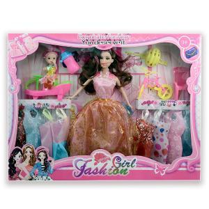 Κούκλα πλαστική σετ με φορέματα