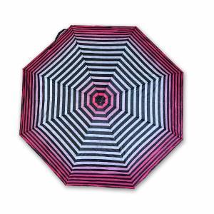 Ομπρέλα με ρίγες ρόζ - μαύρο 24 εκατοστά