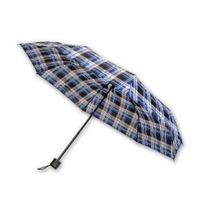 Ομπρέλα ριγέ μπλέ μαύρο 24 εκατοστά