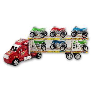 Αυτοκινητοφόρο νταλίκα με 6 οχήματα πλαστικό παιχνίδι