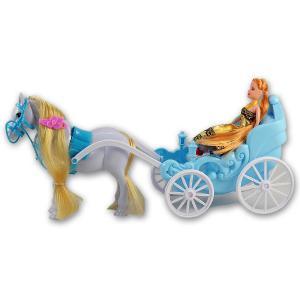Άμαξα με κούκλα πλαστικό παιχνίδι