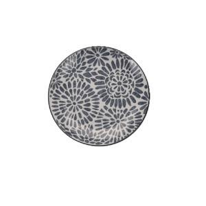 Πίατο stoneware εκρού/γκρί