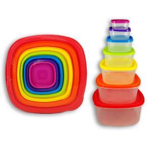 Τάπερ σετ 7 τεμαχίων Rainbow