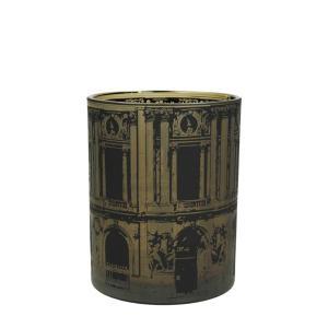Γυάλινο κηροπήγιο με ρωμαικό print