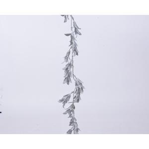 Χριστουγεννιάτικη γιρλάντα με φύλλα glitter