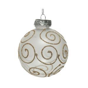 Χριστουγεννιάτικη μπάλα στολίδι χρυσό glitter διαφανής