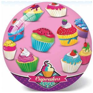 Μπάλα πλαστική ρόζ με cupcakes