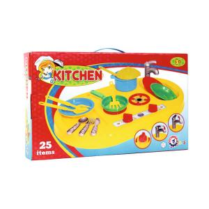Νεροχύτης κουζίνας με εστίες πλαστικό παιχνίδι