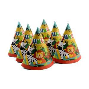 Καπέλο πάρτυ κώνος 6 τεμαχίων jungle
