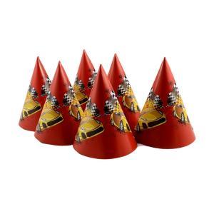 Καπέλο πάρτυ κώνος 6 τεμαχίων αυτοκίνητα