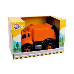 Απορριματοφόρο όχημα σε κουτί παιχνίδι