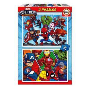 2 παζλ 20 τεμαχίων MARVEL SUPER HERO