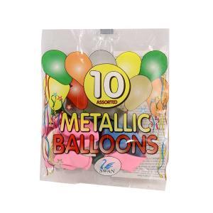 Μπαλόνια μεταλικά 10 τεμαχίων