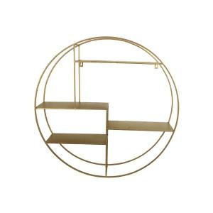 Στρογγυλή ραφιέρα τοίχου σε χρυσό