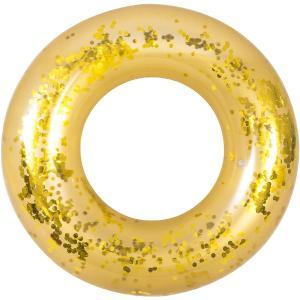 Σωσίβιο κουλούρα χρυσό με glitter 106 εκατοστά