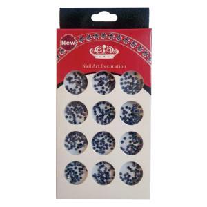 Διακοσμητικά μαύρα στρασάκια νυχιών σε κασετίνα