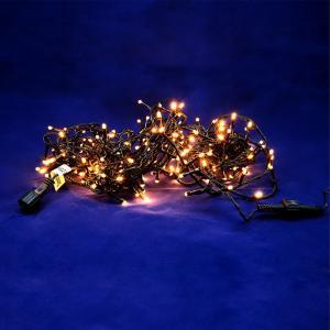 Χριστουγεννιάτικα λαμπάκια 480 LED θερμό λευκό με πράσινο καλώδιο με πρόγραμμα