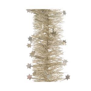 Χριστουγεννιάτικη διακοσμητική γιρλάντα χρώμα περλέ