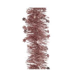 Χριστουγεννιάτικη διακοσμητική γιρλάντα χρώμα ροζ