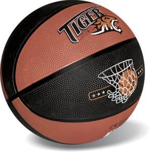 Μπάλα basket Tiger μαύρο-πορτοκαλί