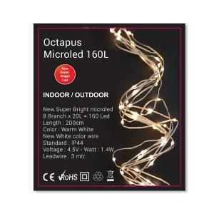 Octapus Light 8x20 microled,160cm,οπαλίνα & λευκό σύρμα