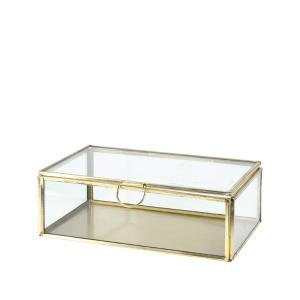 Γυάλινη κοσμηματοθήκη με χρυσό σκελετό