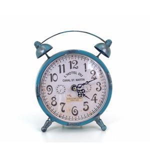 Vintage επιτραπέζιο ρολόι γαλάζιο