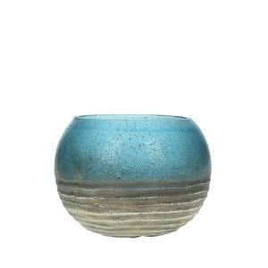 Γυάλινο κηροπήγιο σε σχήμα μπάλας