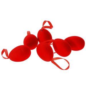 Σετ 6 τεμαχίων αυγά κόκκινα βελούδινα