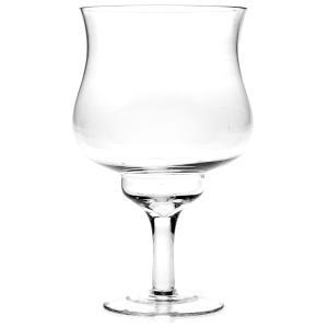 Βάζο γύαλινο ποτήρι με πόδι 13χ25 εκατοστά
