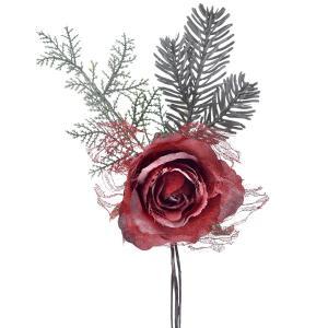 Πικ τριαντάφυλλο κόκκινο παγωμένο 30 εκατοστά