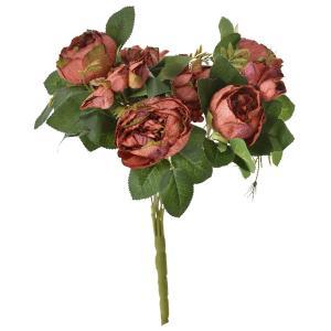 Μπουκέτο τριαντάφυλλα βέλουδο κόκκινα