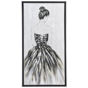 Πίνακας  γυναίκα με μαύρη κορνίζα