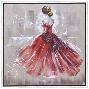 Πίνακας γυναίκα σε ασημί κορνίζα