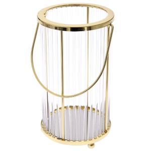 Χρυσό φανάρι μεταλικό 33 εκατοστά